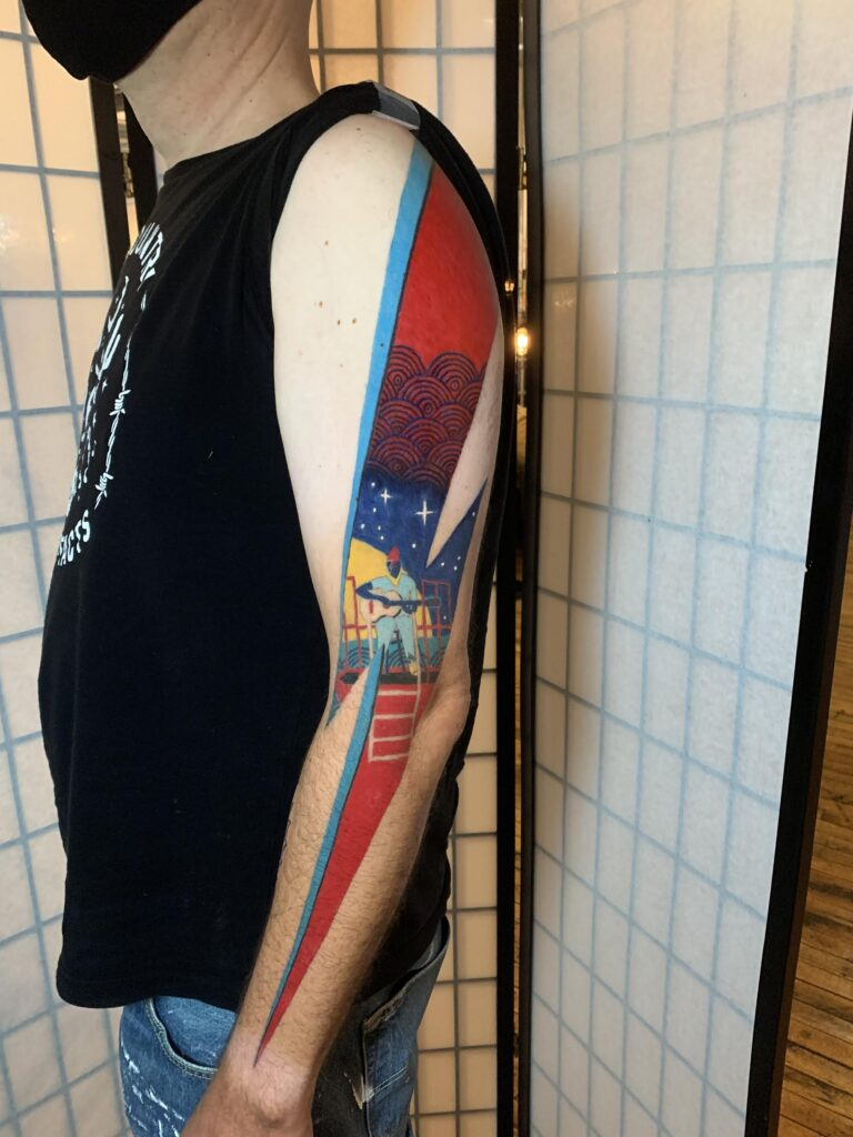 Patrick Cornolo David Bowie Life Aquatic tattoo