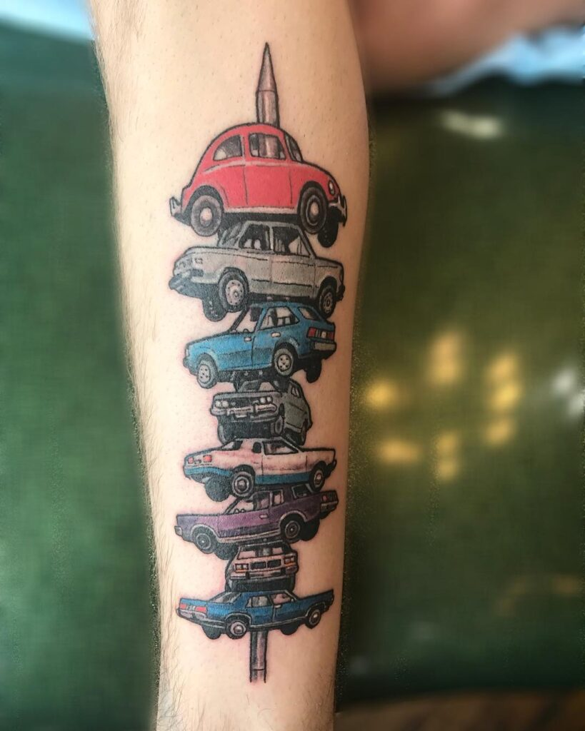 Patrick Cornolo Tattoo Car Kebob Berwyn Car spindle